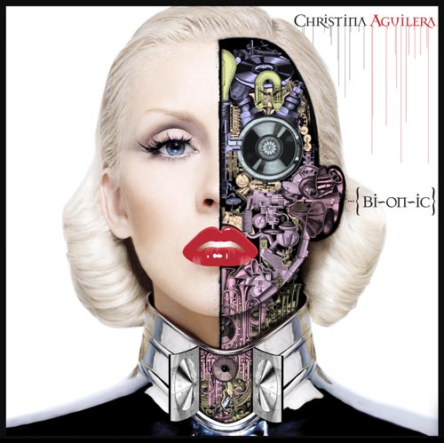 For an example in music, notice the album cover for Christina Aguilera's